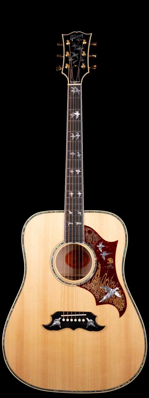 Gibson Custom Shop Doves In Flight Sitka Spruce Top Flame Maple Back Antique Natural