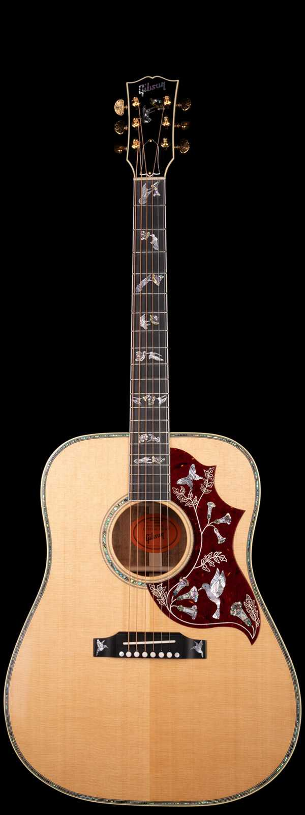 Gibson Custom Shop Hummingbird Custom Koa Antique Natural