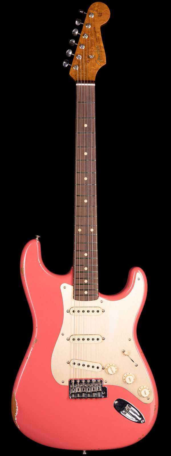 Fender Custom Shop 1960 Stratocaster Relic Roasted Body and Neck Aged Fiesta Red