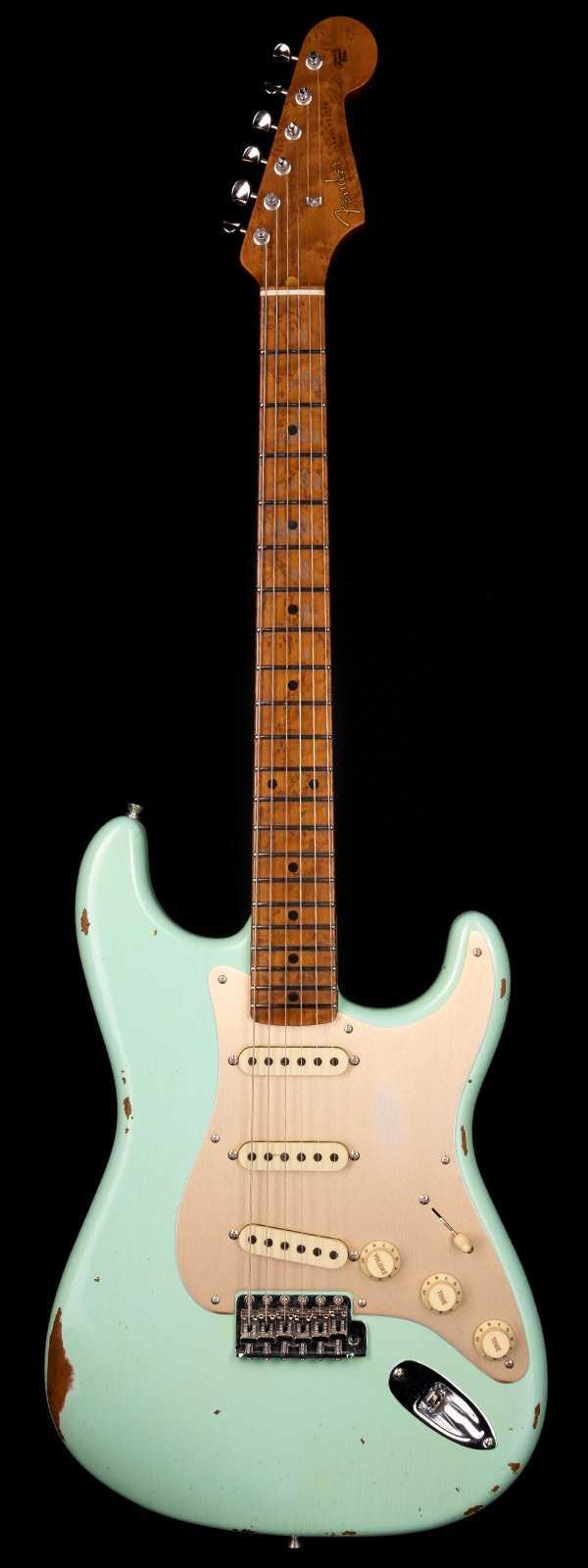 Fender Custom Shop 1956 Stratocaster Roasted 3A Birdseye Neck Relic Aged Surf Green