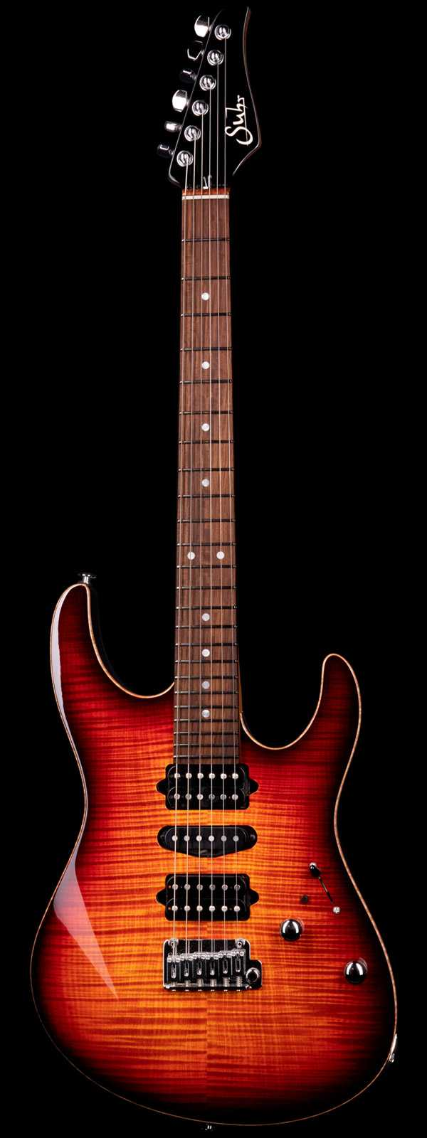 Suhr Custom Modern Flame Maple Top Roasted Maple Neck Inferno Burst