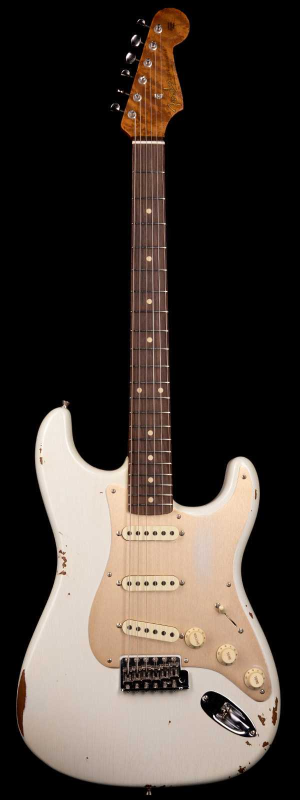 Fender Custom Shop 1960 Stratocaster Relic Roasted Body and Neck Aged Olympic White