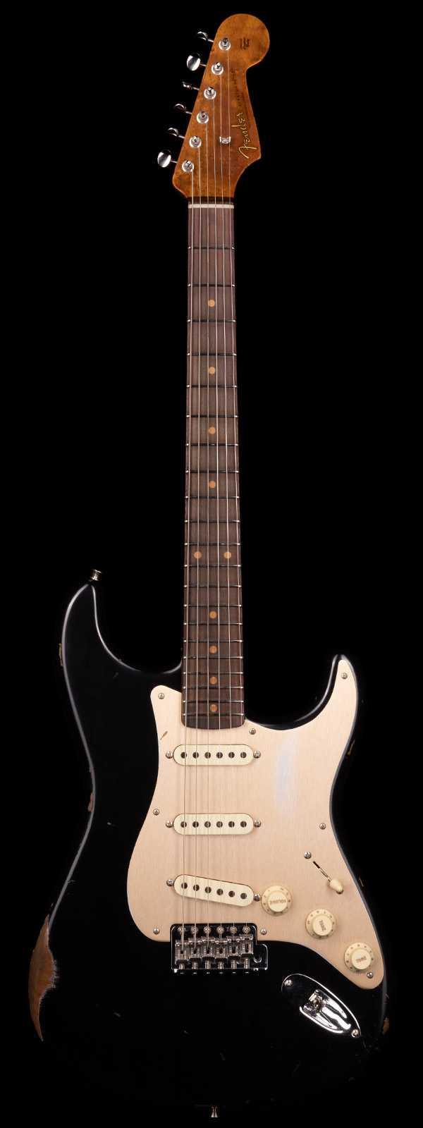 Fender Custom Shop 1960 Stratocaster Relic Roasted Body and Neck Black