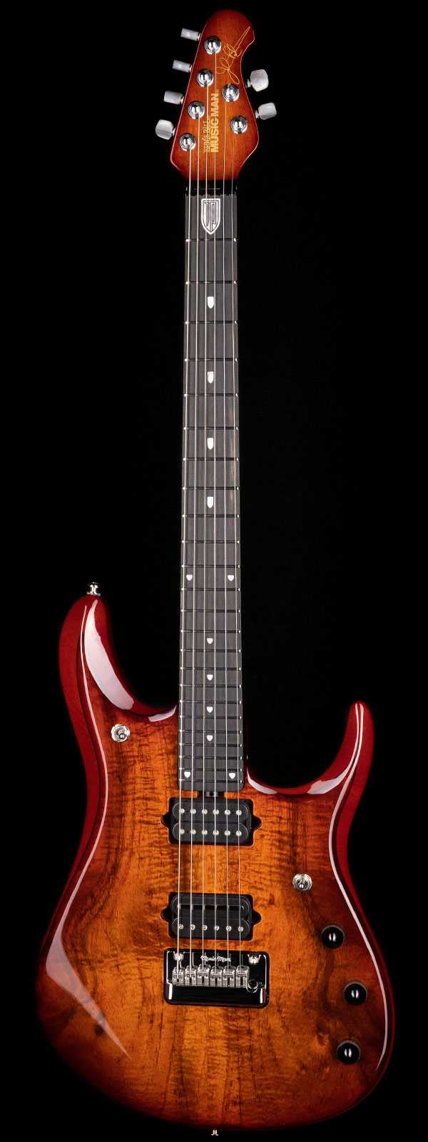 Ernie Ball Music Man John Petrucci Figured Koa Top Island Burst
