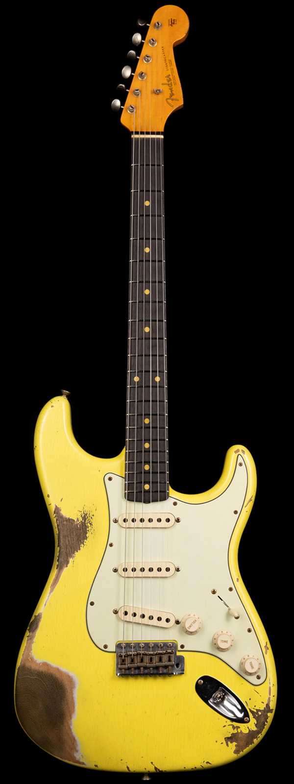 Fender Custom Shop 1963 Stratocaster Heavy Relic Graffiti Yellow