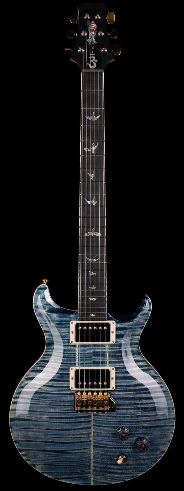 PRS Santana Retro Maple Neck Faded Whale Blue 10-Top