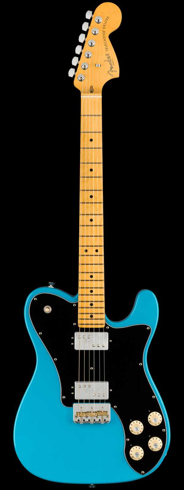 Fender American Professional II Telecaster® Deluxe Maple Board Miami Blue