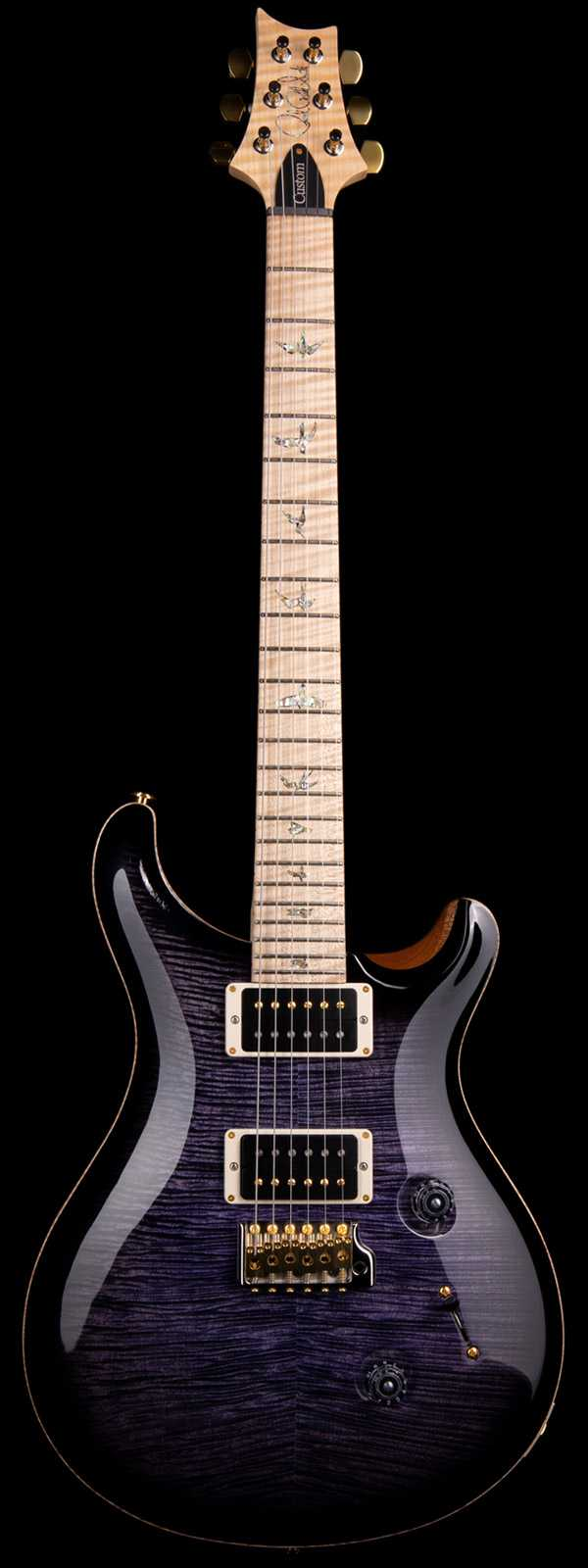 PRS Custom 24 Flame Maple Artist Grade Top and Neck Purple Black Burst