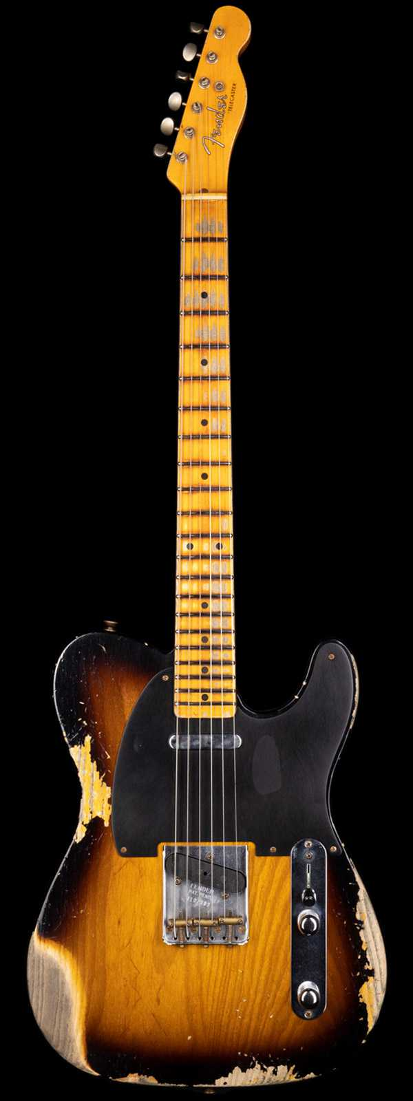 Fender Custom Shop 1952 Telecaster Heavy Relic Streamlined U Neck 2-Tone Sunburst