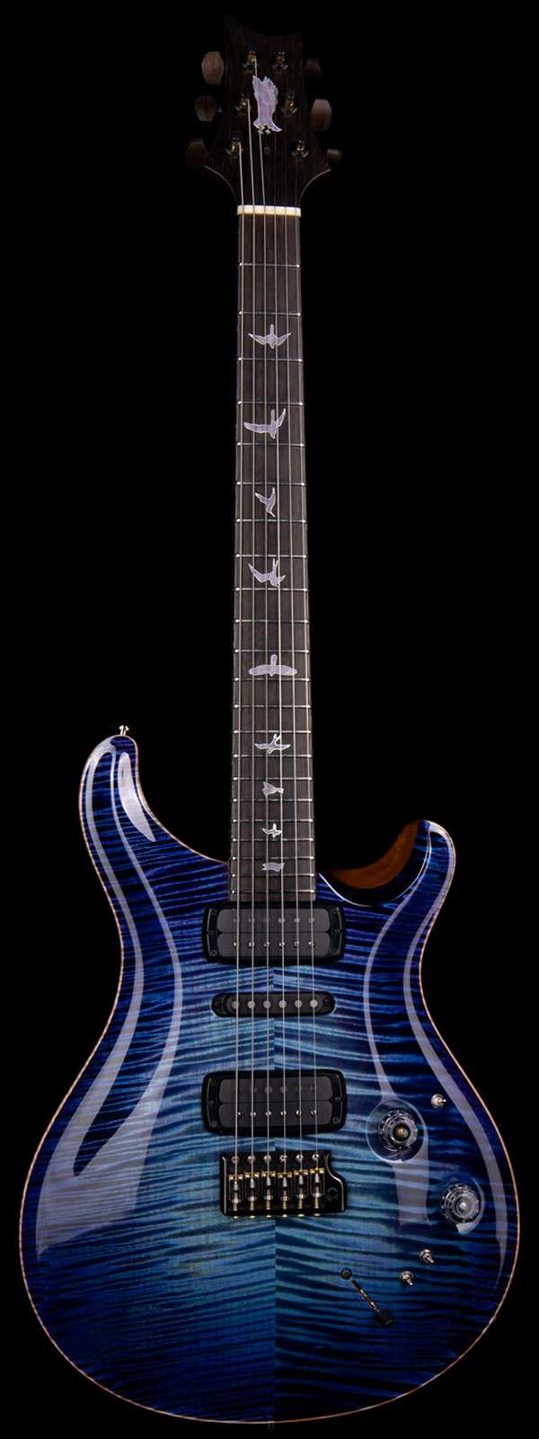 PRS Private Stock 8663 Modern Eagle V Brazilian Board Aqua Violet Glow