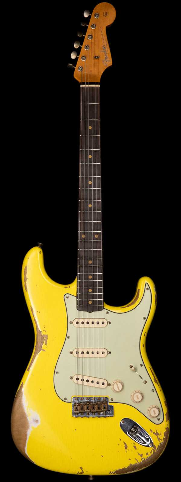 Fender Custom Shop 1961 Stratocaster Heavy Relic Graffiti Yellow