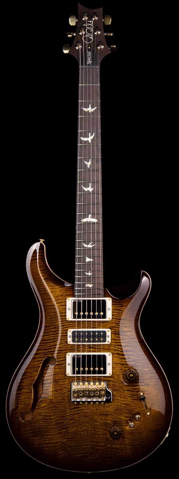 PRS Wood Library Special 22 Semi-Hollow w/Single F-hole 10 Top Brazilian Fretboard Black Gold