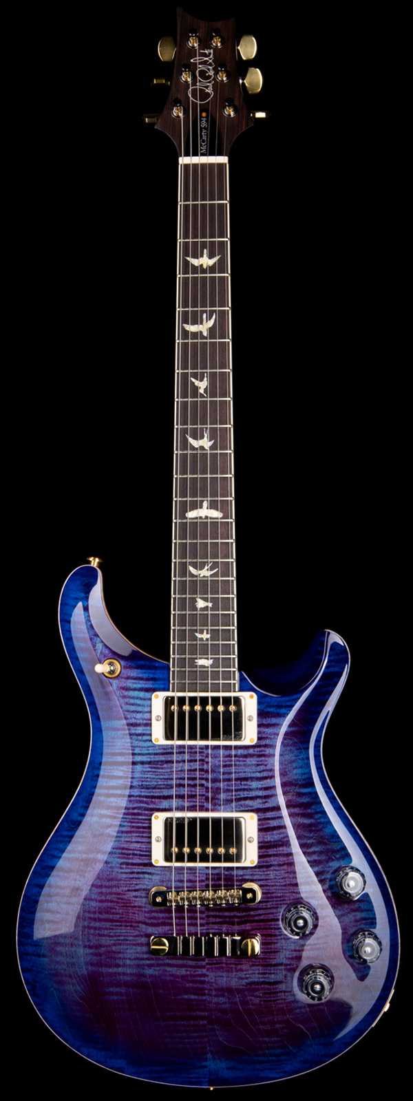 PRS Wood Library McCarty 594 Flame 10 Top Indian Rosewood Board Violet Blue Burst