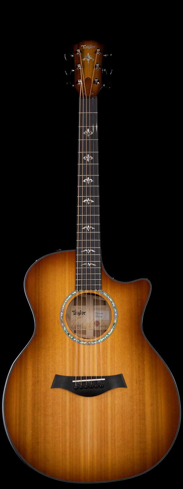 Taylor Custom Grand Auditorium Blackheart Sassafras Acoustic Electric Shaded Edgeburst