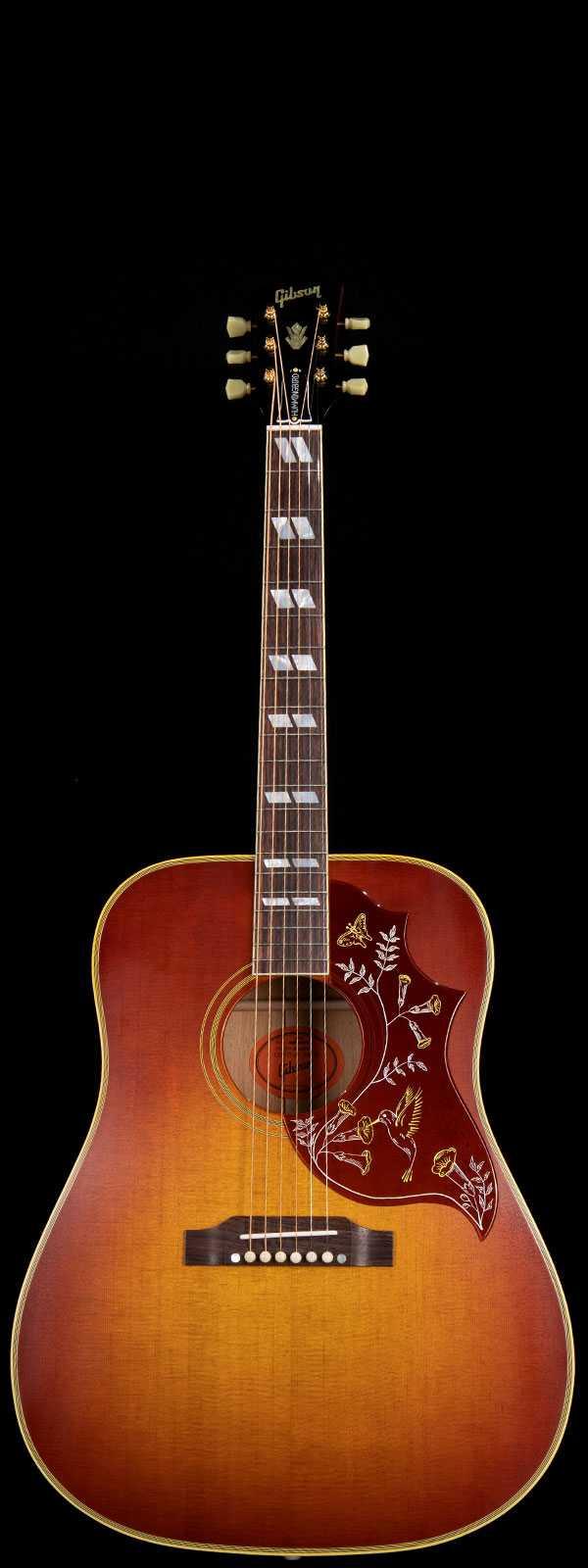 Gibson 1960 Hummingbird Fixed Bridge Sitka Spruce Top Heritage Cherry Sunburst