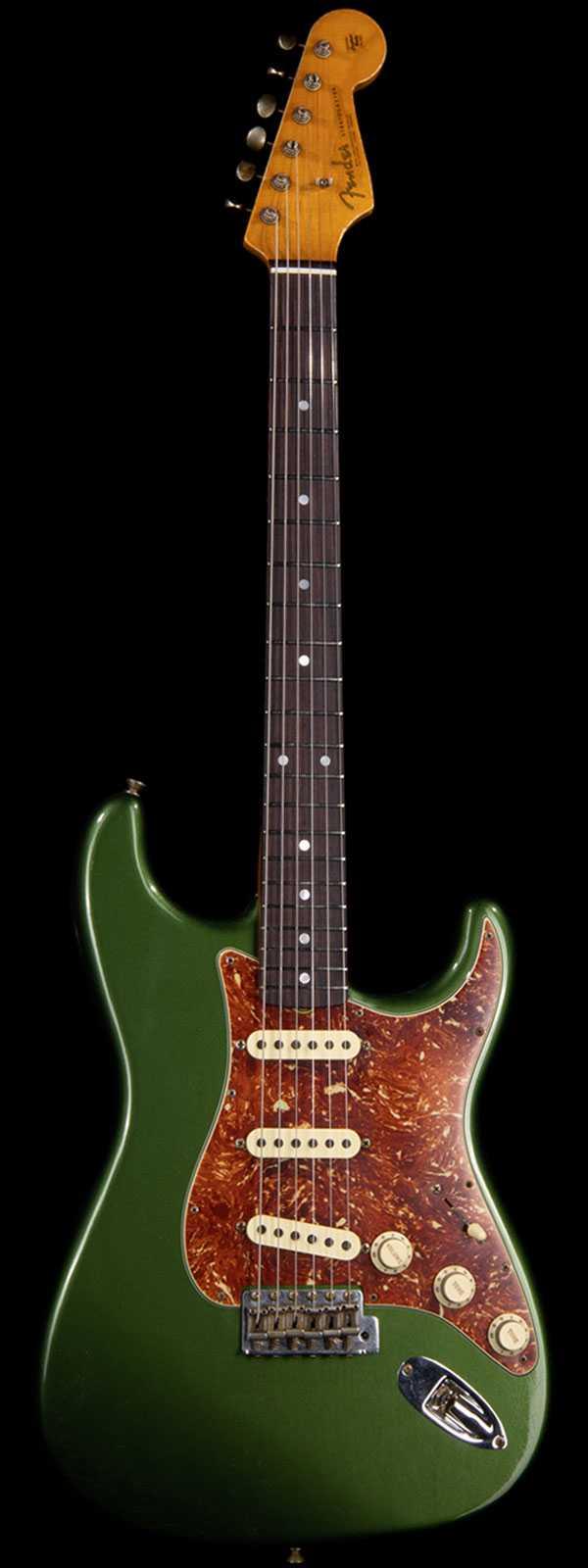 Fender Custom Shop Masterbuilt Carlos Lopez '63 Strat LCC Aged Cadillac Green