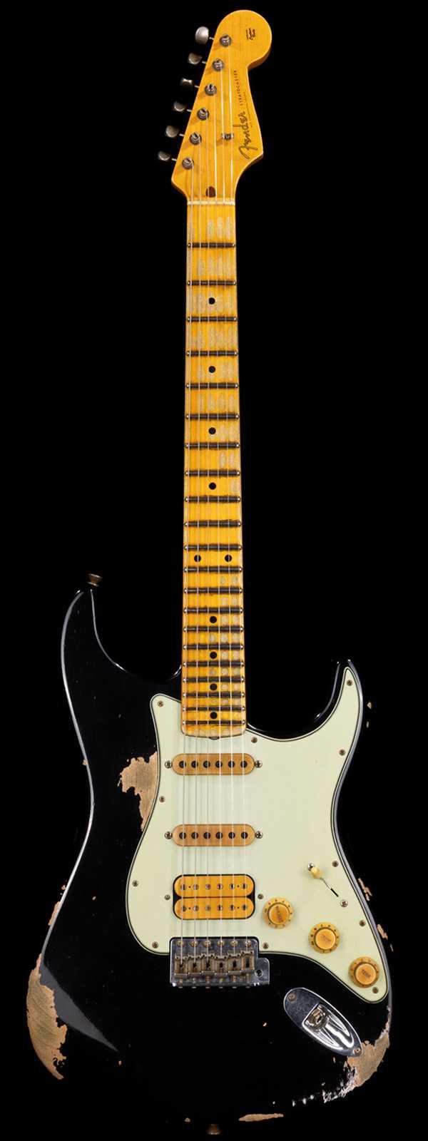 Fender Custom Shop Alley Cat Stratocaster Heavy Relic HSS Vintage Trem Black