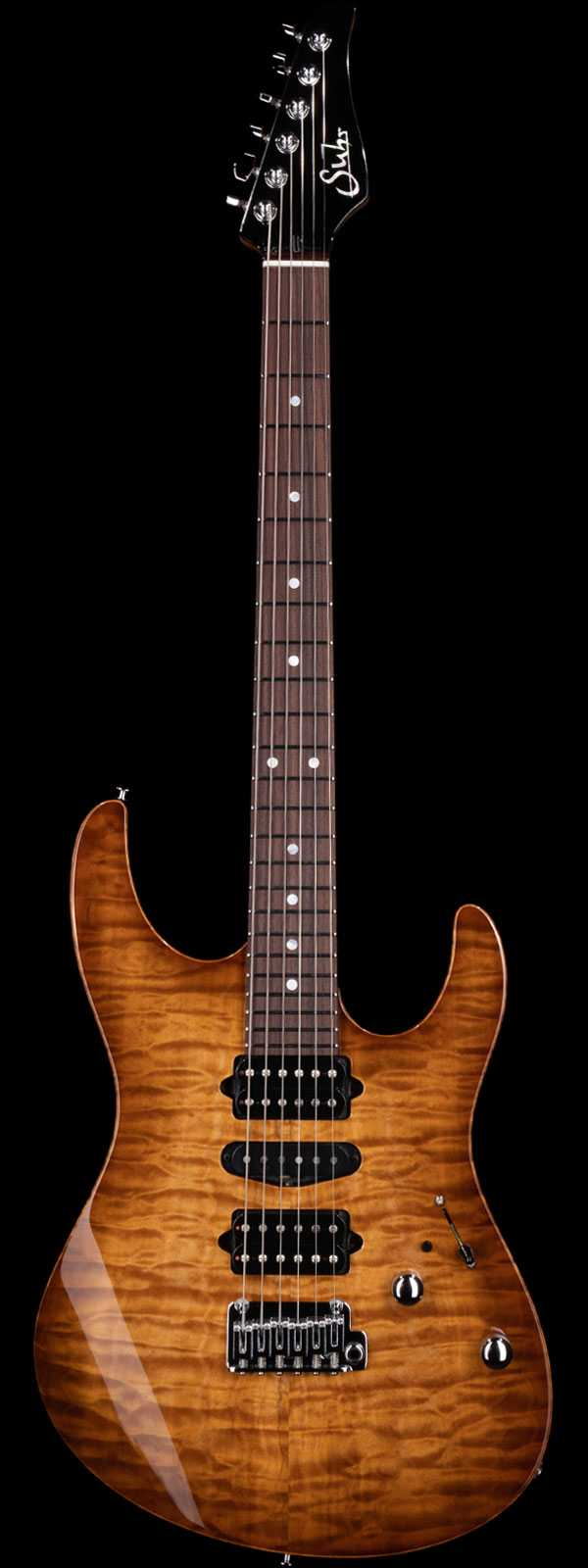 Suhr Custom Modern Quilt Maple Top Indian Rosewood Board Natural Burst