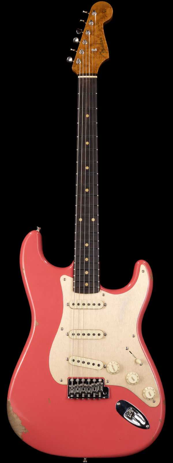 Fender Custom Shop 1960 Strat Roasted Relic Rosewood Board Faded Fiesta Red