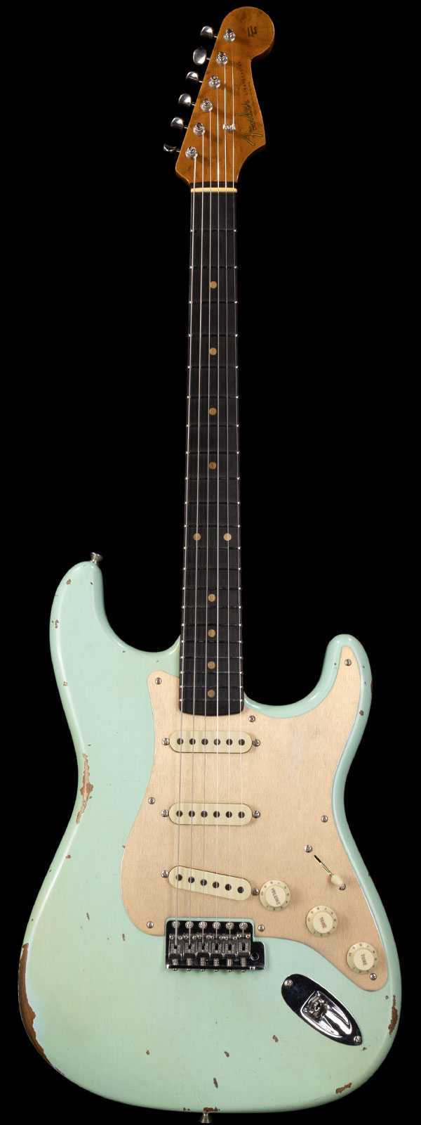 Fender Custom Shop 1960 Strat Roasted Relic Rosewood Board Aged Surf Green
