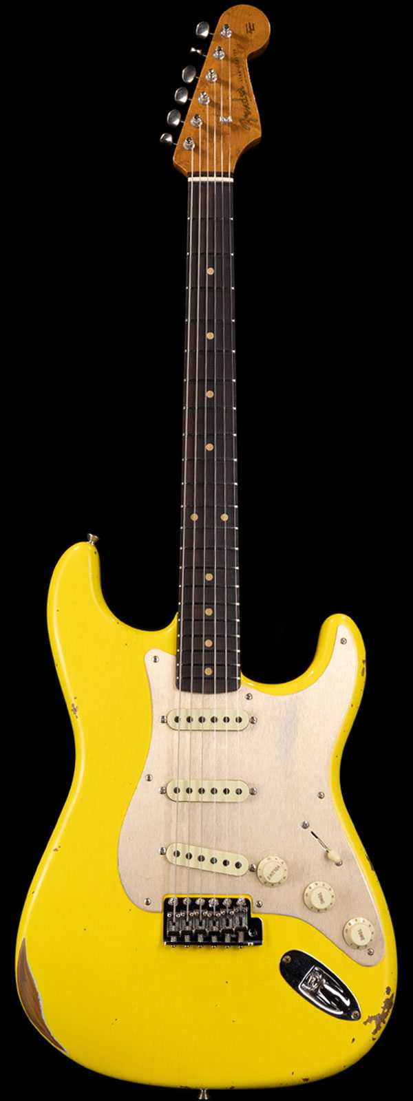 Fender Custom Shop 1960 Stratocaster Relic Roasted Body and Neck Aged Graffiti Yellow