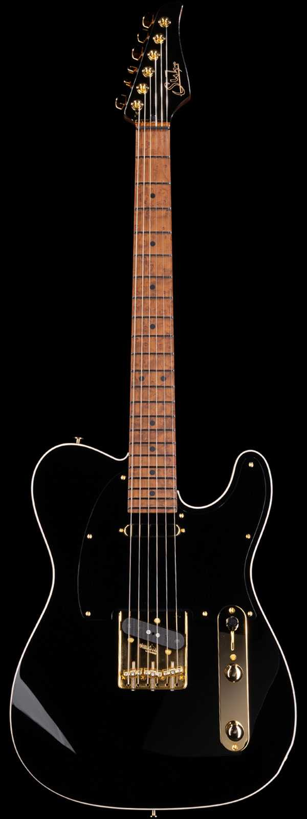 Suhr Mateus Asato Signature Standard Classic T Roasted Birdseye Maple Board Black