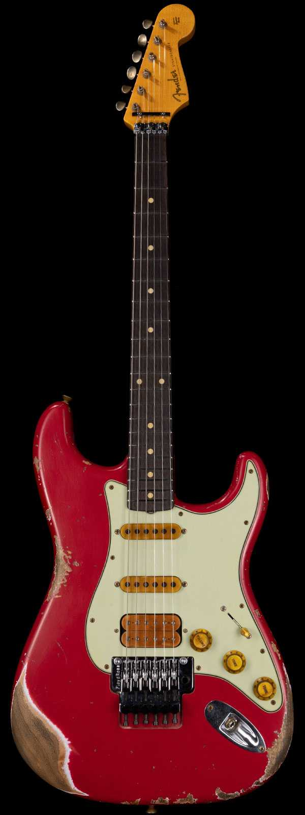 Fender Custom Shop Alley Cat Stratocaster Heavy Relic HSS Floyd Rose Torino Red