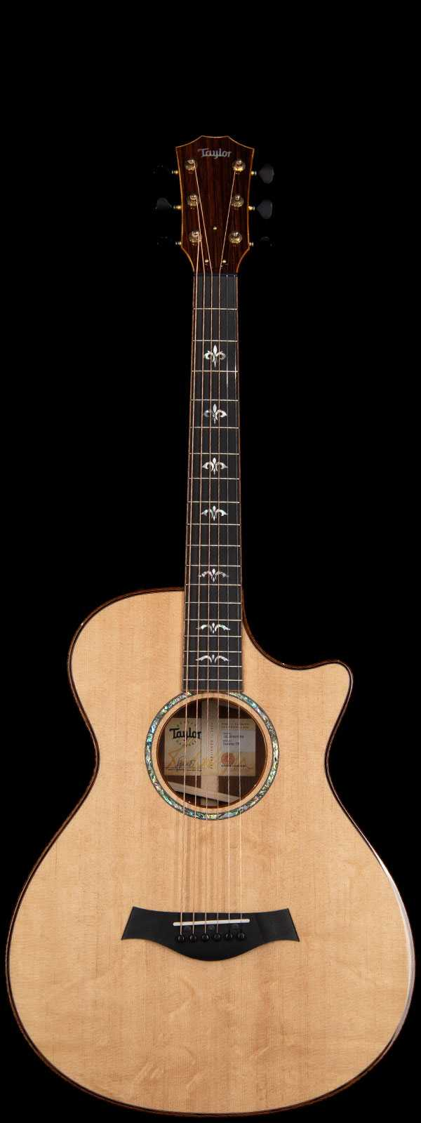 Taylor Custom 12-Fret Grand Concert Bear Claw Sitka Spruce Top Acoustic-Electric Natural