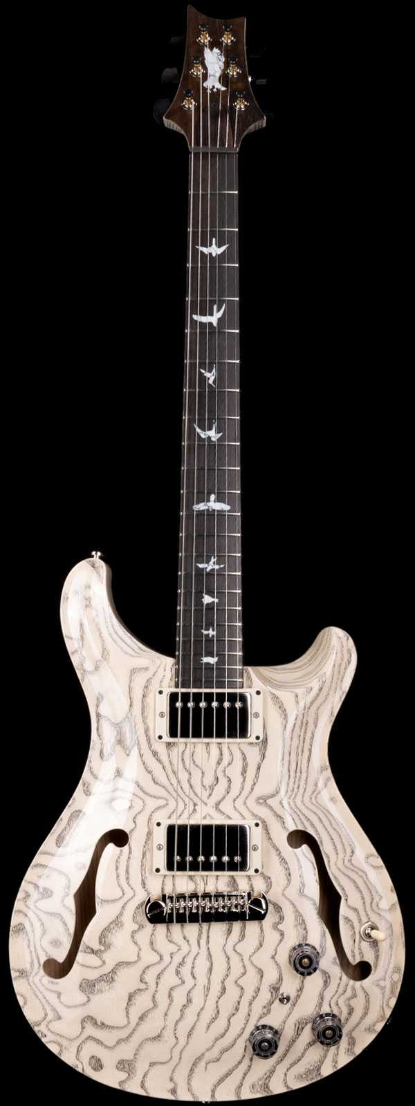 PRS Private Stock 9137 Hollowbody II White Washed Ash with Black Grainfill
