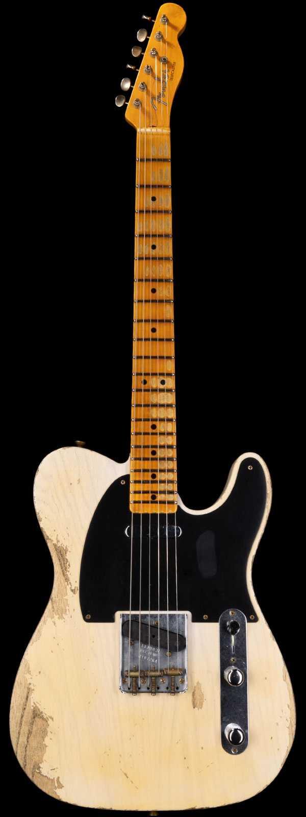Fender Custom Shop 1952 Telecaster Heavy Relic Streamlined U Neck White Blonde