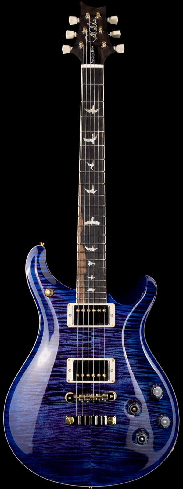 PRS Wood Library McCarty 594 Flame Maple 10 Top Brazilian Rosewood Board Violet Blue Burst