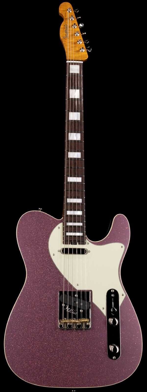 Iconic Vintage Modern T Deluxe 5A Flame Maple Neck Burgundy Mist