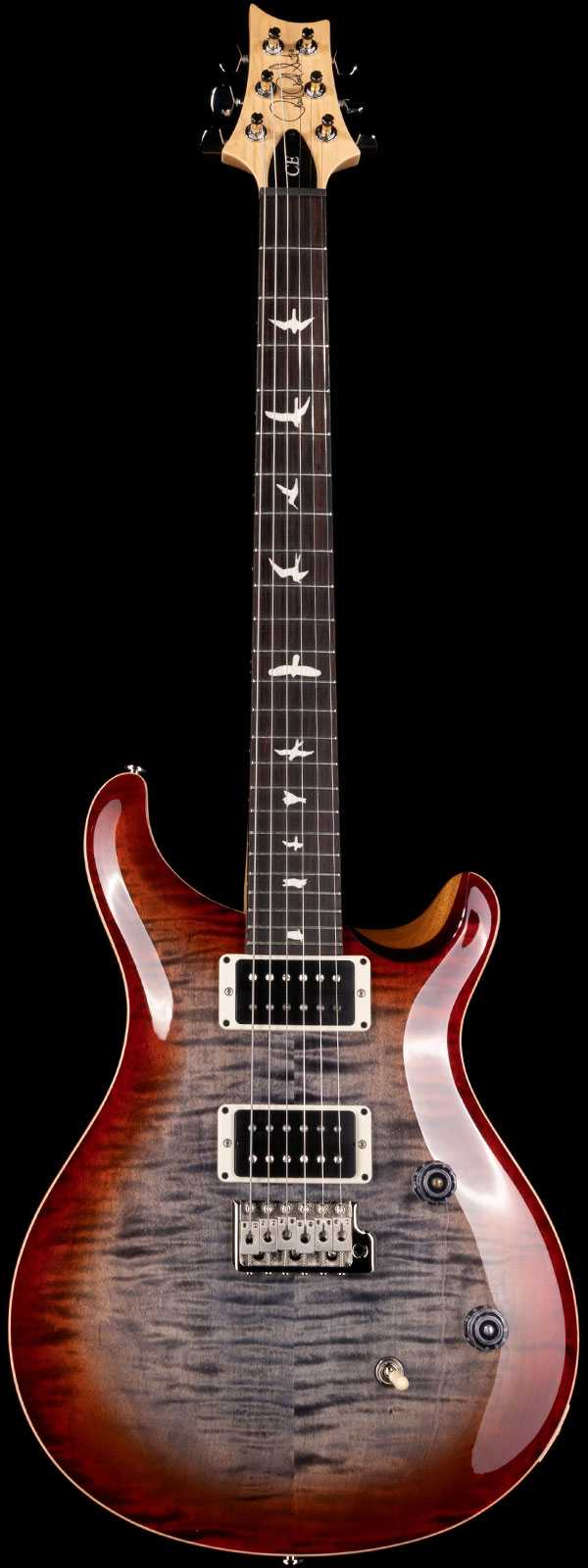 PRS CE 24 Flame Maple Top Rosewood Board Faded Grey Black Cherry Burst