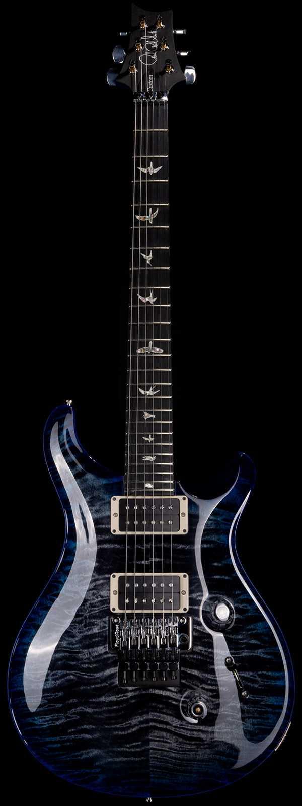 PRS Custom 24 Floyd Ebony Board Custom Color Grey Blue Burst