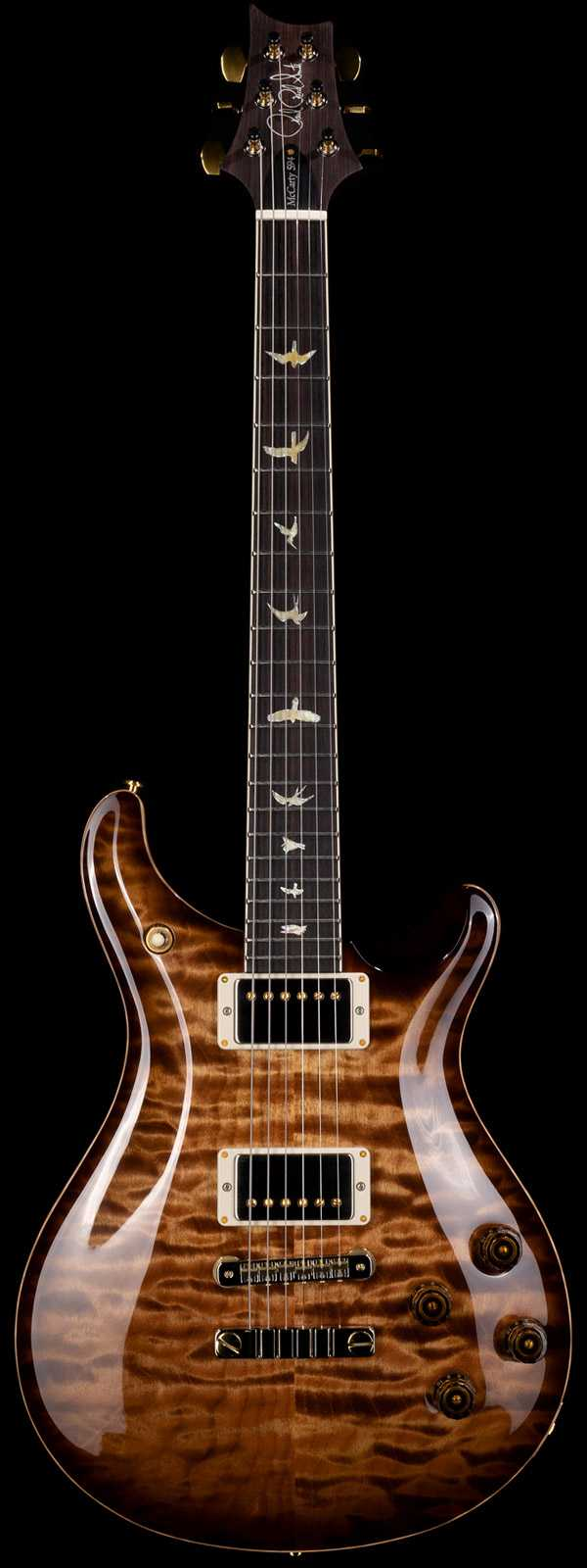 PRS Wood Library McCarty 594 Quilt Maple 10 Top Brazilian Rosewood Board Copperhead Burst