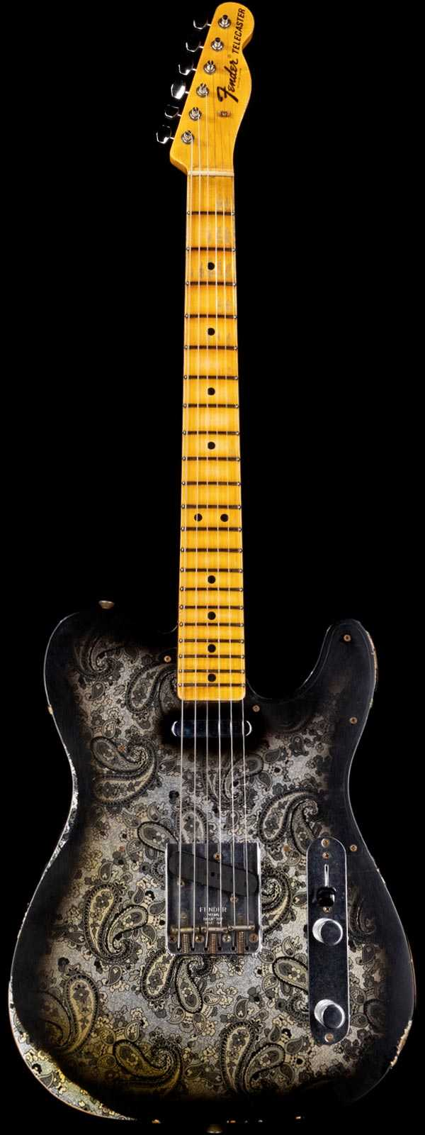 Fender Custom Shop Limited 1968 Telecaster Heavy Relic Black Paisley
