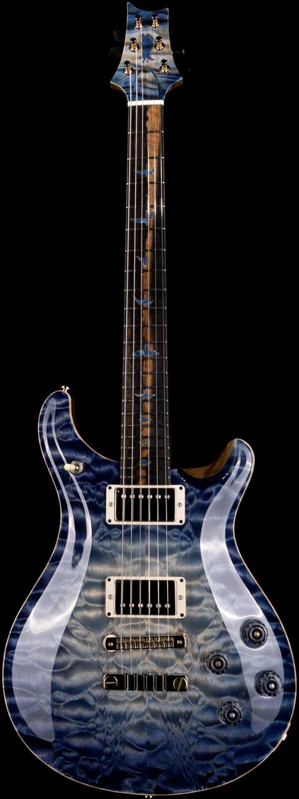 PRS Private Stock 9067 McCarty 594 Quilt Maple Top Exotic Ebony Board Indigo Glow