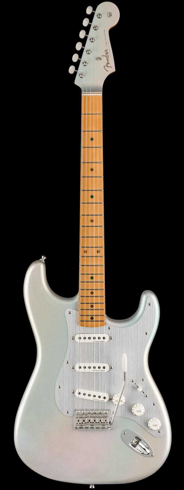 Fender H.E.R. Stratocaster Maple Fingerboard Chrome Glow