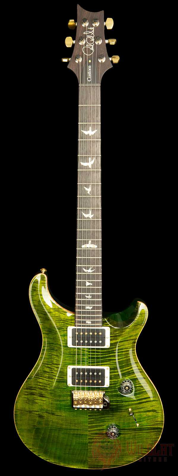PRS Custom 24 Ten Top Flame Jade Used