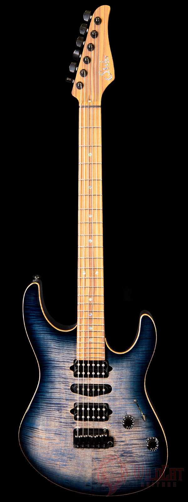 Suhr Custom Modern Faded Trans Whale Blue Pau Ferro Neck