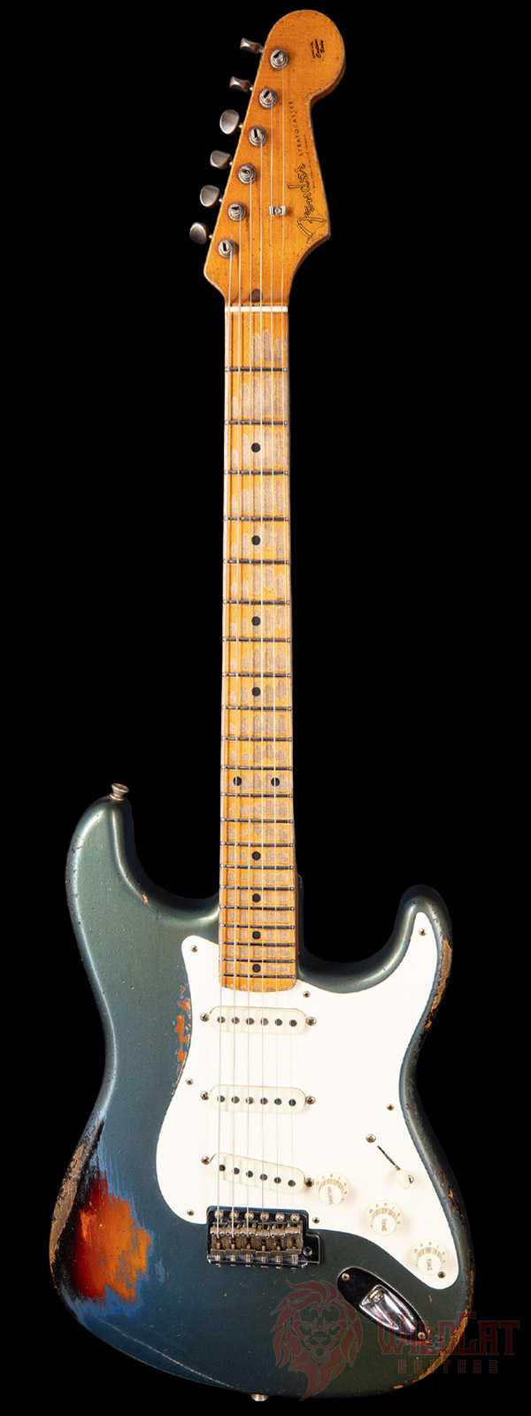 Fender Custom Shop Masterbuilt Dale Wilson 1958 Stratocaster Lake Placid Blue over 3-Tone Heavy Relic
