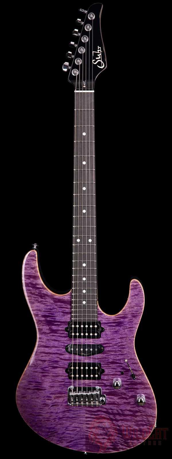 Suhr Custom Modern Trans Purple Roasted Maple Neck