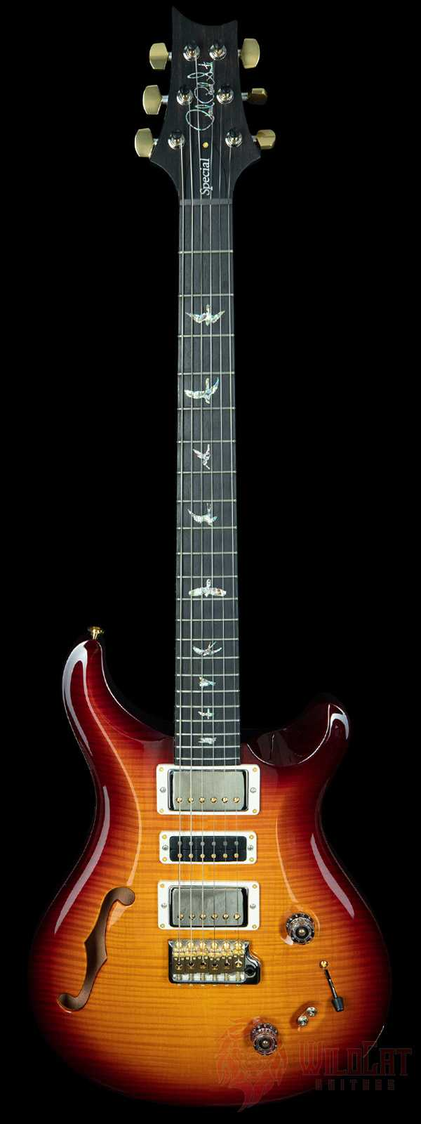 PRS Special 22 Semi-Hollow Artist Package Amber Burst Wrap