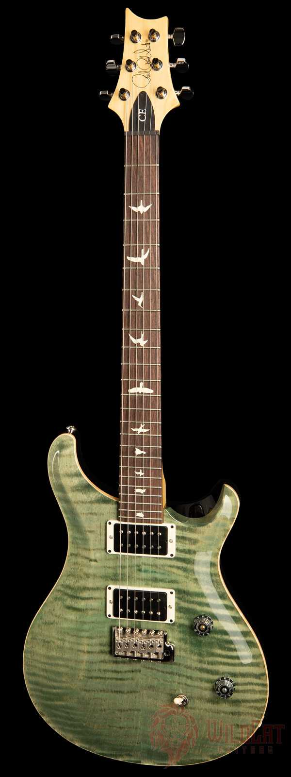 PRS CE24 Trampas Green Maple Neck Rosewood Fretboard.