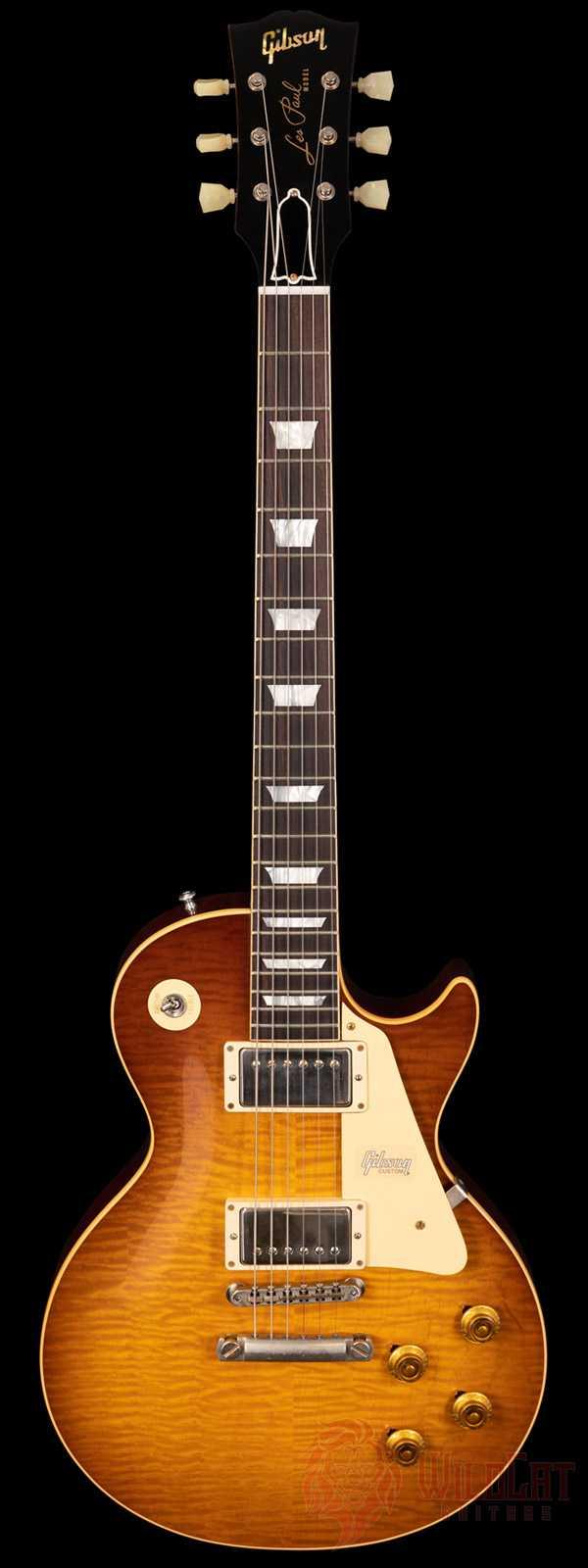Gibson Custom Shop Tom Murphy Painted 1959 Les Paul Standard with Brazilian Fretboard VOS Weak Teaburst