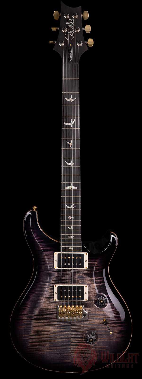 PRS Custom 24 Ten Top Violet Purple Black Burst