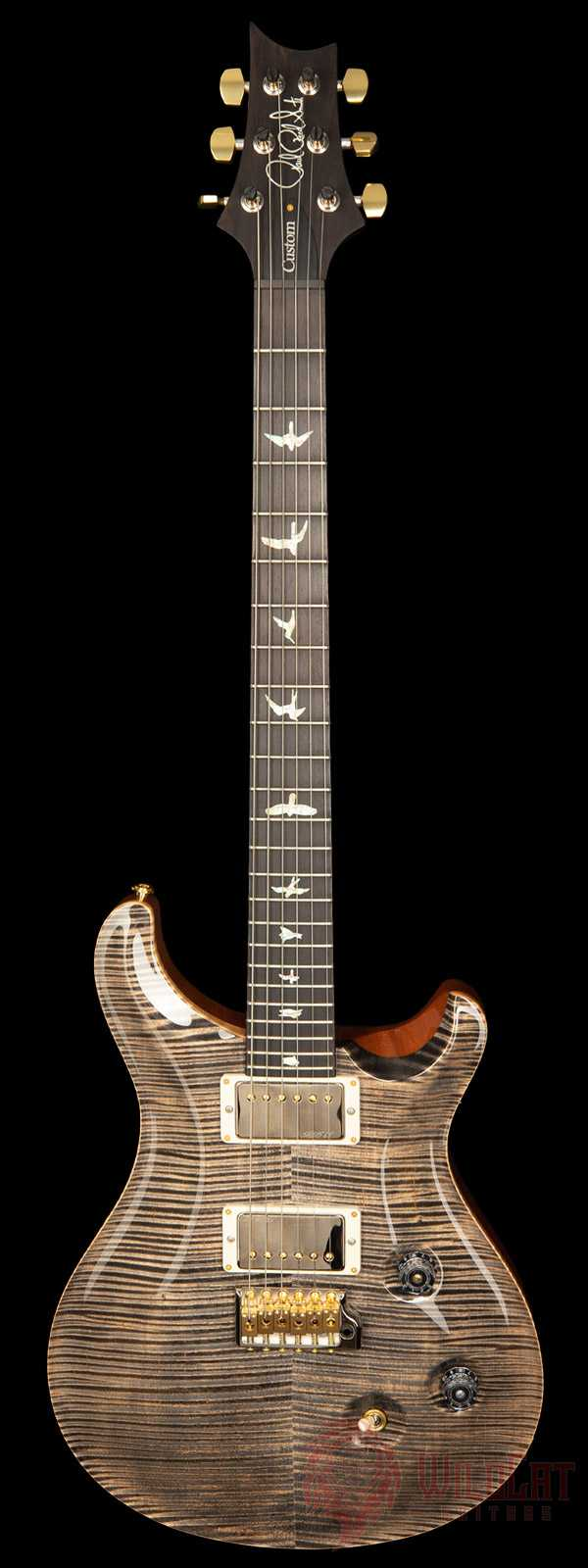 PRS Wood Library Custom 24 Charcoal Flame