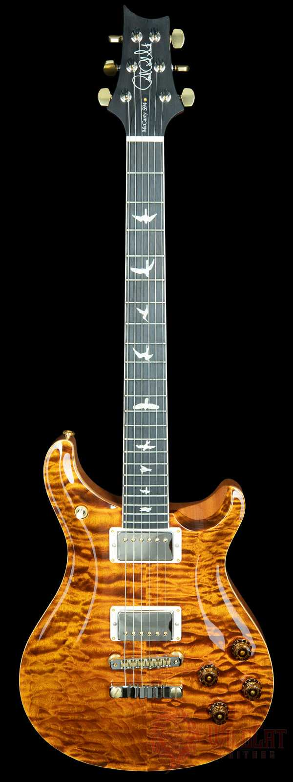 PRS Wood Library McCarty 594 Quilt Top Yellow Tiger