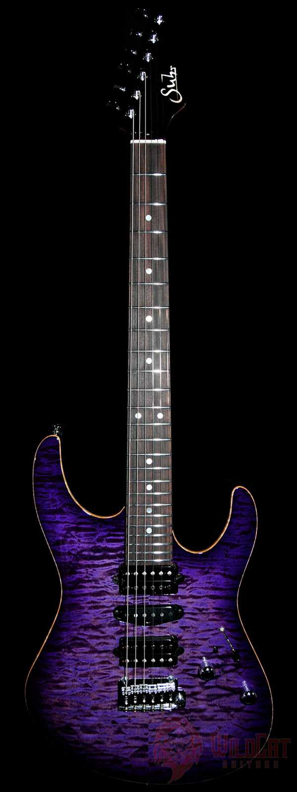 Suhr Custom Modern Trans Purple Burst Roasted Maple Neck