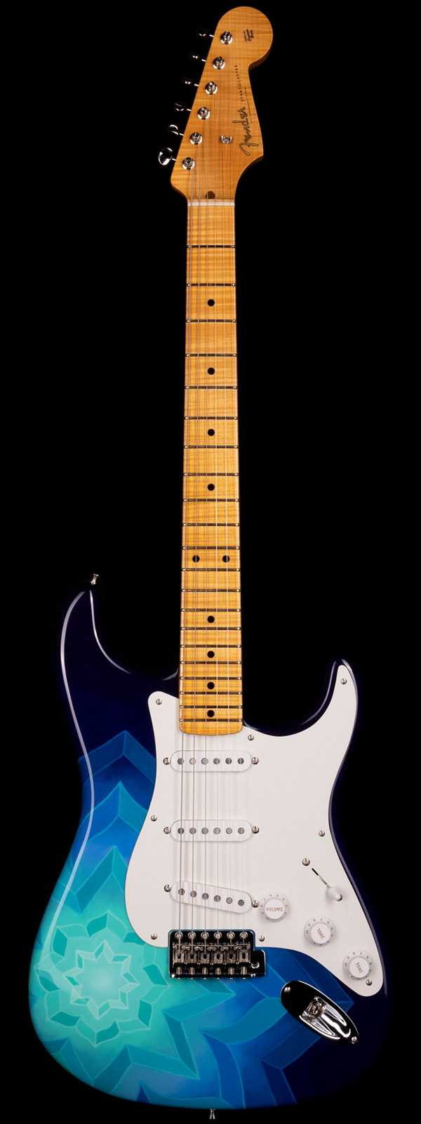 Fender Custom Shop Masterbuilt Greg Fessler 1956 Stratocaster Madison Roy Moonflake Artwork
